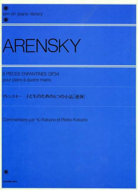 Six-Children-039-s-Pieces-op-34-Arensky-Anton-Stepanowitsch-piano-4-hands-979